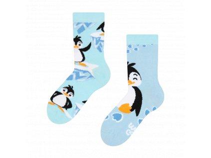 veselé dětské ponožky Šťatný tučňák