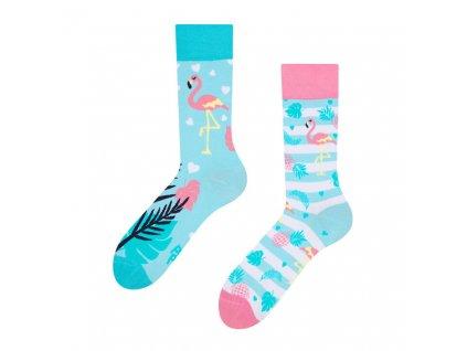 veselé ponožky Zamilovaní plameňáci