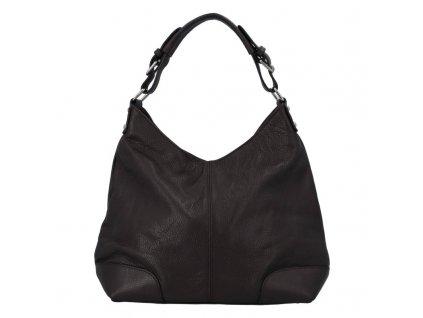 Dámská kožená kabelka DELAMI Libra - tmavě hnědá