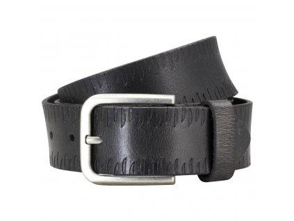 Pánský kožený pásek PIERRE CARDIN Jules - černý
