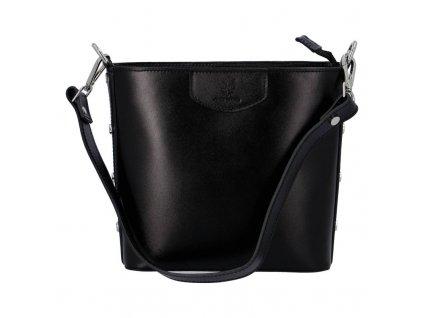 Dámská kožená kabelka DELAMI Elina - černá