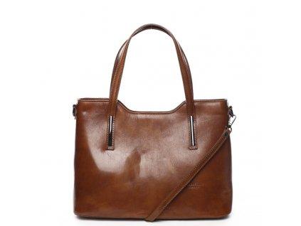 Dámská kožená kabelka DELAMI Julie - koňakově hnědá