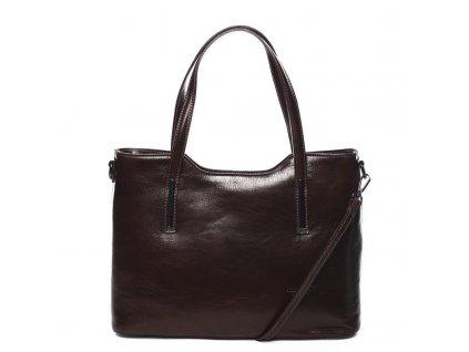 Dámská kožená kabelka DELAMI Julie - tmavě hnědá