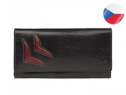 černá kožená peněženka LAGEN