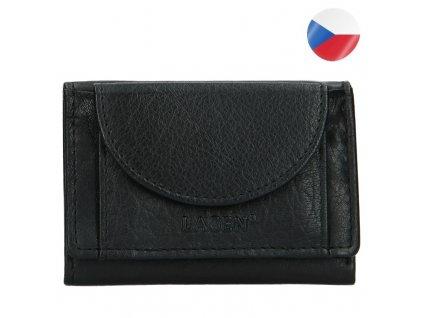 elegantní černá mini kožená peněženka LAGEN (3)