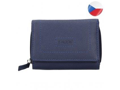 AIGA kožená peněženka modrá AIGA (3)