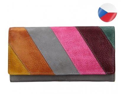 Diana barevná šedá kožená peněženka LAGEN (4)