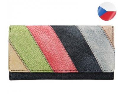 Diana barevná černá kožená peněženka LAGEN (2)