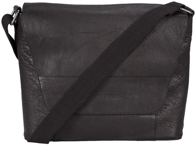 """černá kožená taška na 15"""" notebook 320/2397, BRUNO BANANI"""