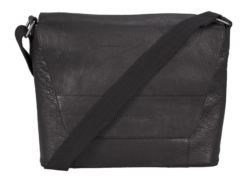 """černá kožená taška na 13"""" notebook 320/2396, BRUNO BANANI"""