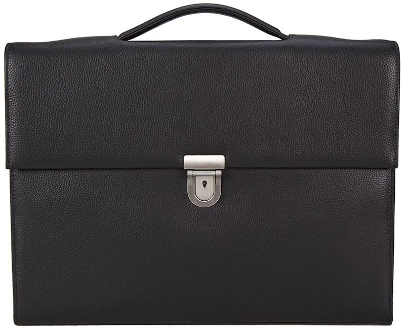 černá kožená aktovka 550701, d&n lederwaren