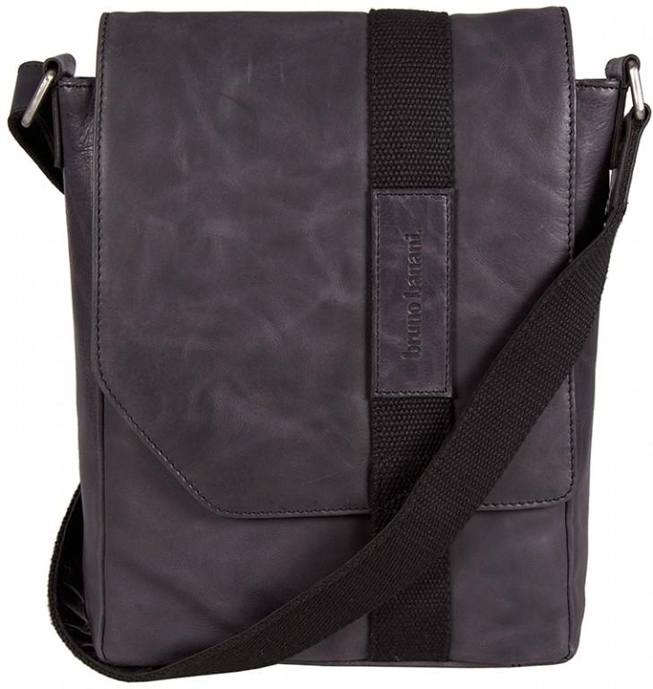 """černá kožená taška na 13"""" notebook 320/1294, BRUNO BANANI"""