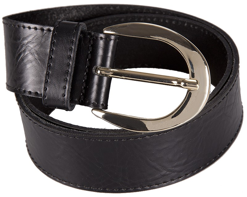 černý kožený pásek 402559, BERND GÖTZ Délka pásku: 80 cm