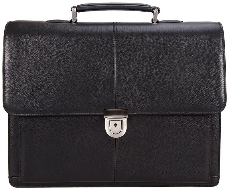 černá kožená aktovka 550801, d&n lederwaren