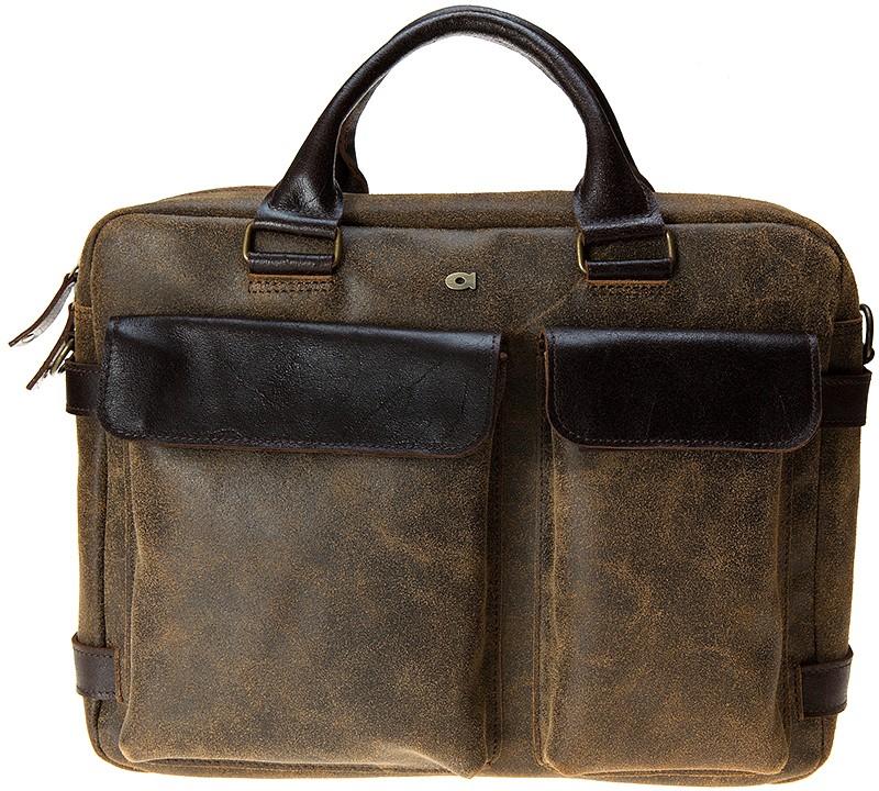 "hnědá kožená taška na 15"" notebook , JAZZY RISK UP 143, DAAG"