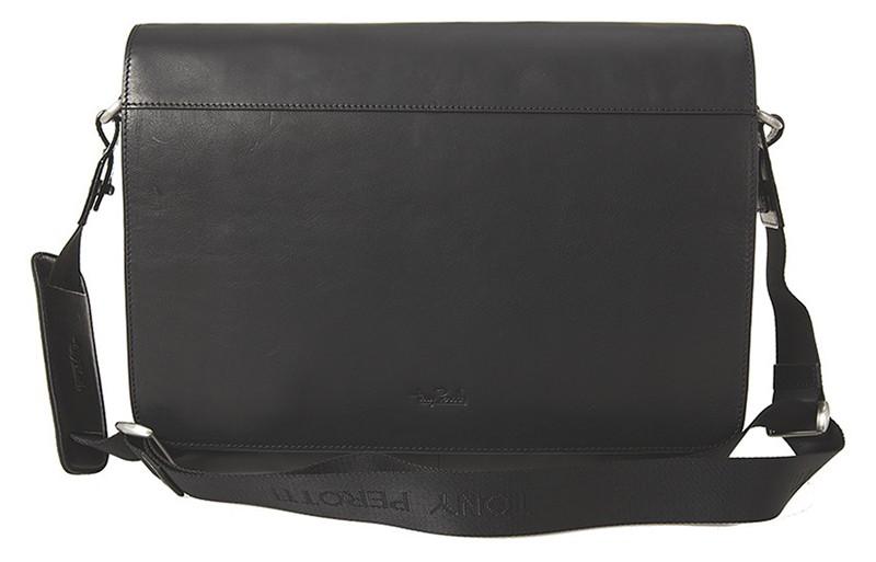 """černá kožená taška na 13"""" notebook 9027-38, Tony Perotti"""