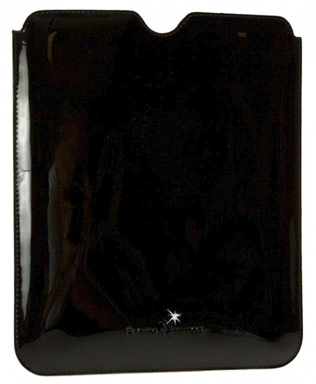 luxusní černé kožené pouzdro na iPad 2 a New iPad, FRANCO BELLUCCI