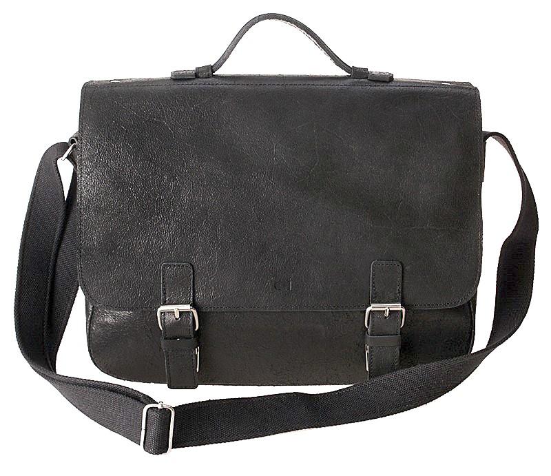 černá kožená taška JAZZY Wanted 24 s vložkou na15