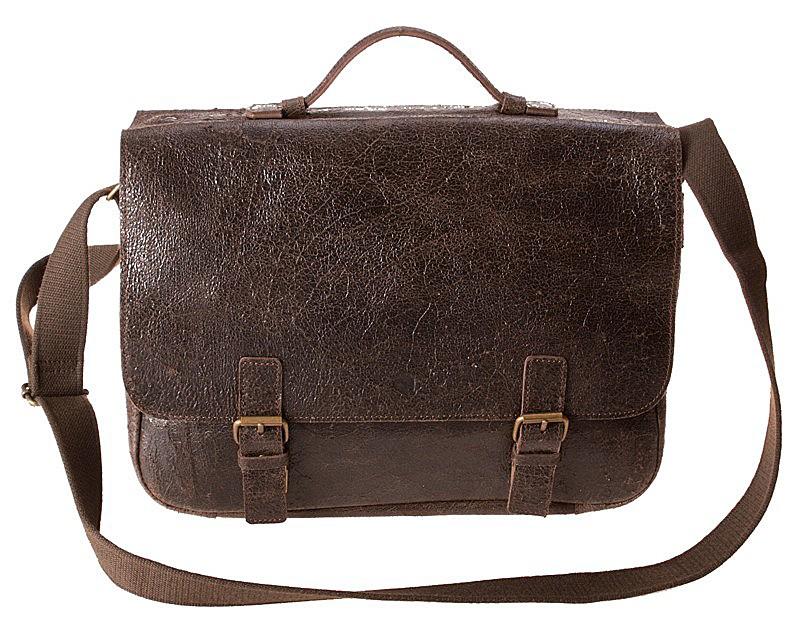 """Kožená taška na 15"""" notebook Daag hnědá"""