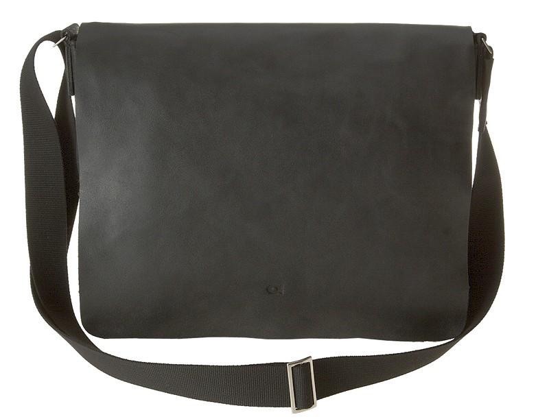 """černá kožená taška na 15"""" notebook , JAZZY SMASH 74, DAAG"""