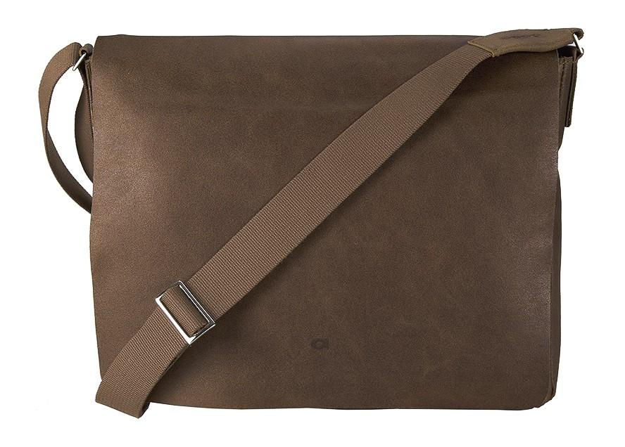 """hnědá - koňak kožená taška na 15"""" notebook , JAZZY SMASH 74, DAAG"""