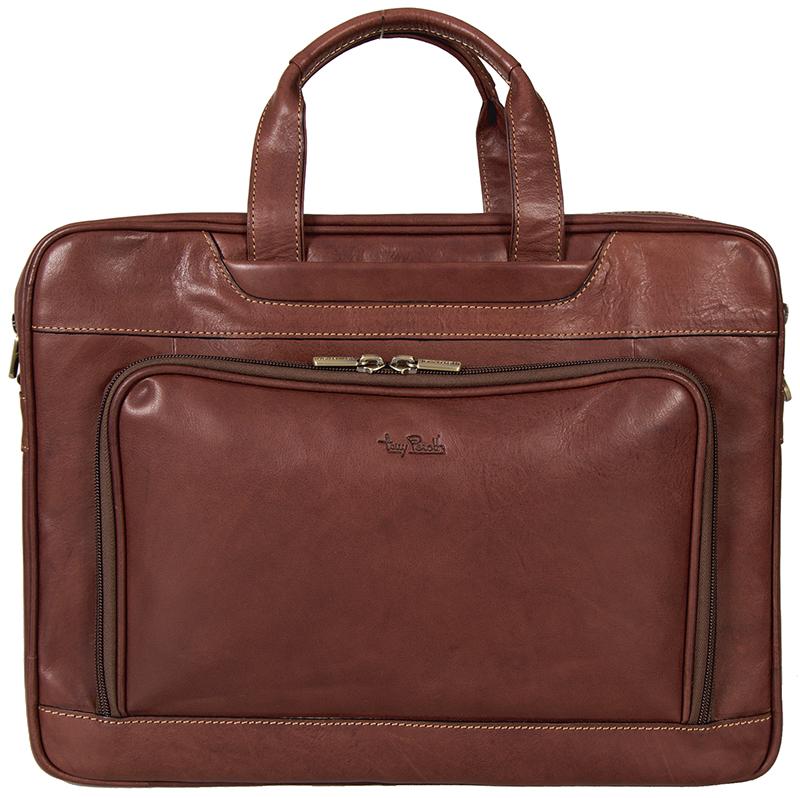 "hnědá kožená taška na 15"" notebook 8976-42, Tony Perotti"