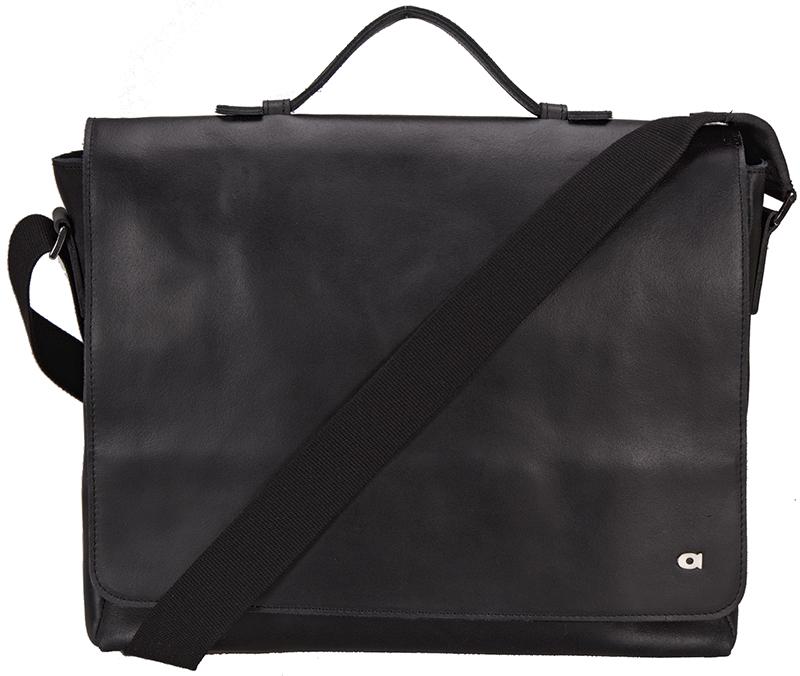černá kožená taška na notebook , JAZZY SMASH 77, DAAG