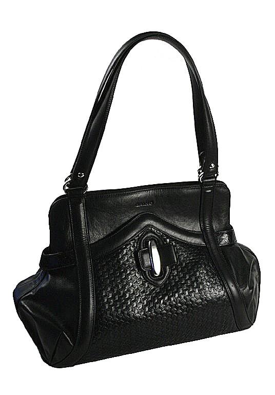 černá kožená kabelka 10-1293-3601, Galko