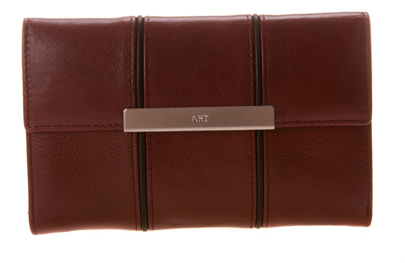 dámská červená bordo kožená peněženka 4M2325 , ART