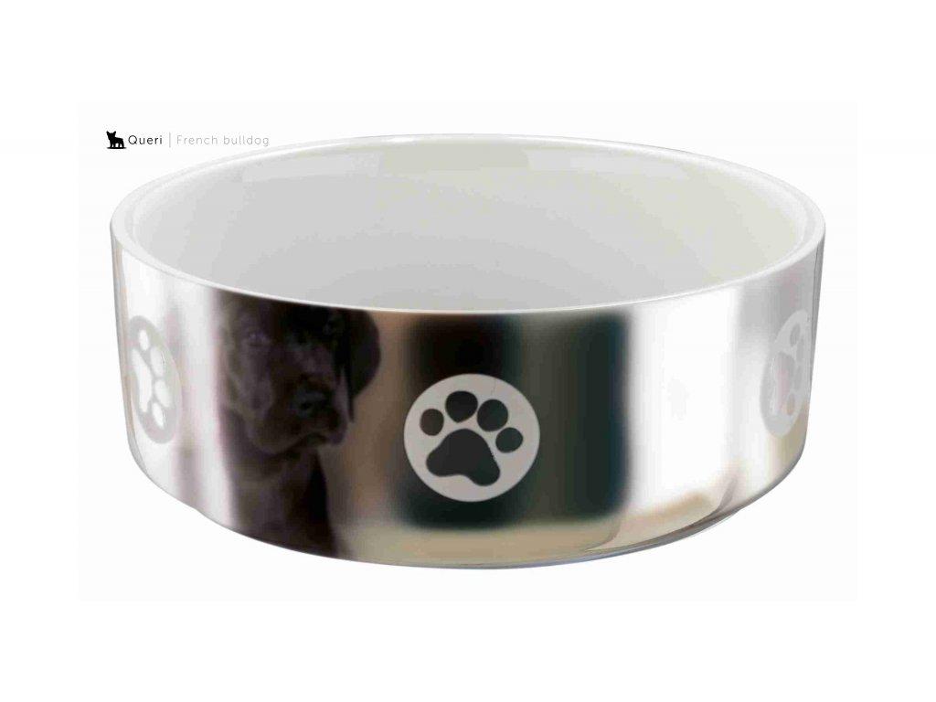 miska keramika stříbrná