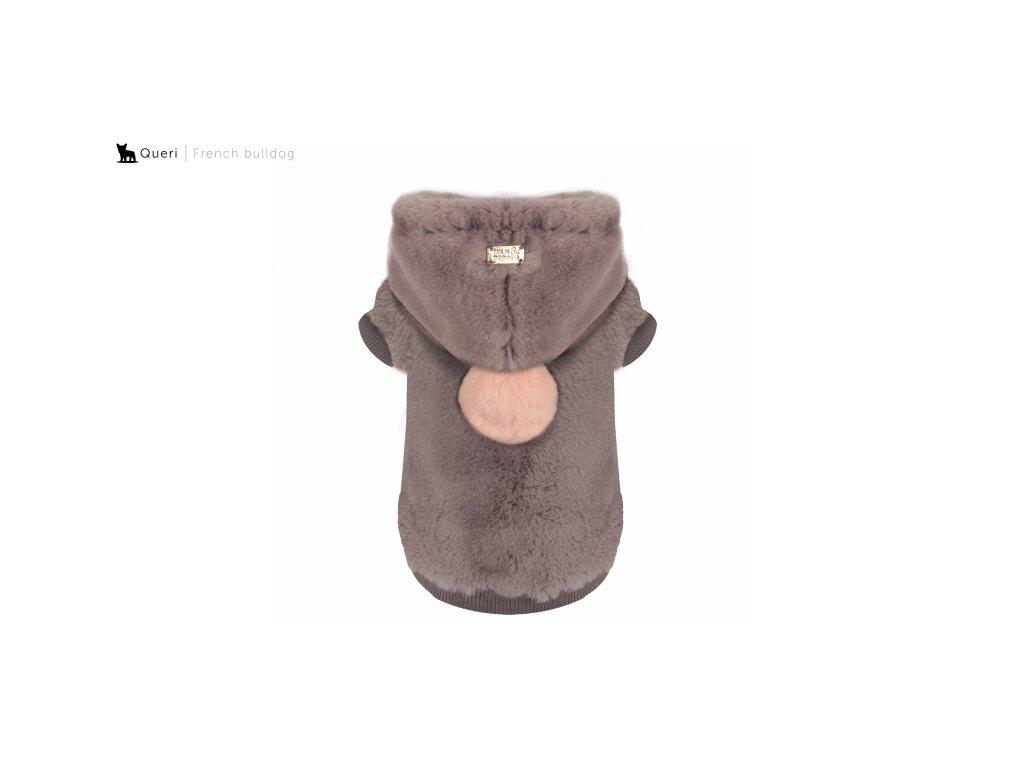 sweat fourrure yelena gris