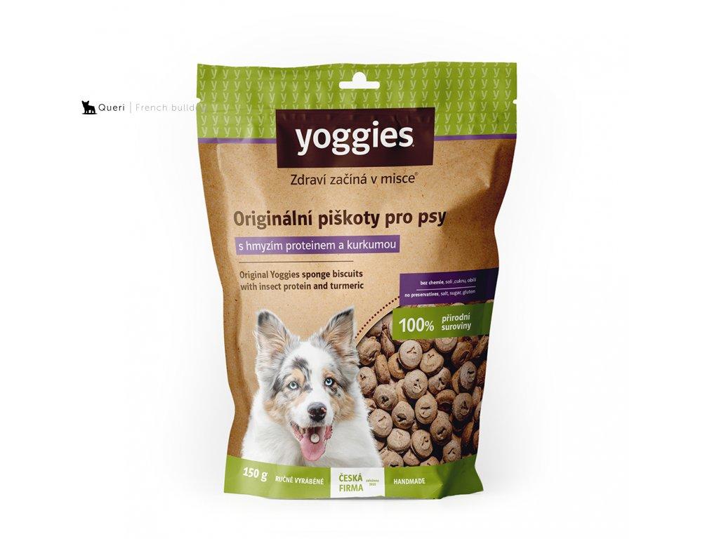 1097 yoggies hypoalergenni bezlepkove piskoty s hmyzim proteinem a kurkumou 150g