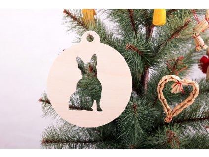 Vánoční ozdoby s motivem buldočka (3ks)
