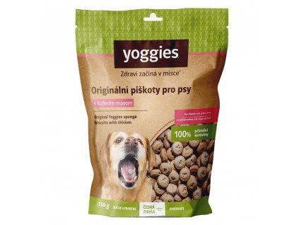 yoggies nove originalni piskoty s kurecim masem 150g