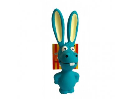 Hračka oslík modrý latexový 17cm