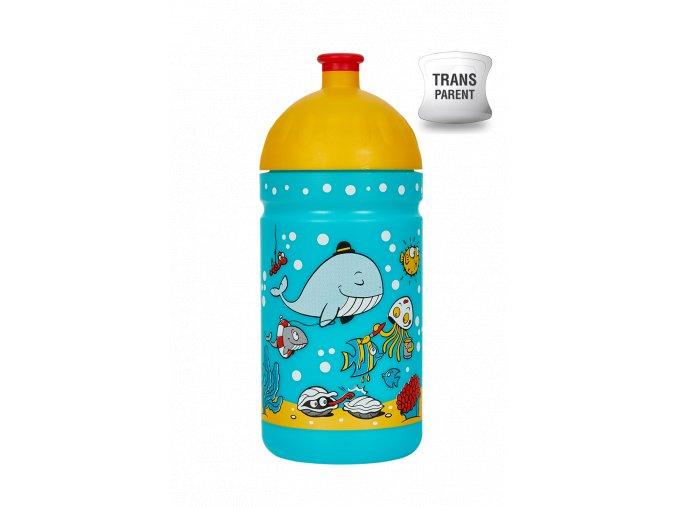 Zdravá lahev 0,5 l - mořský svět  + náhradní zátka zdarma