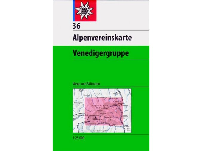 alpenvereinskarte map 36 venedigergruppe hiking and ski p11206 111979 medium