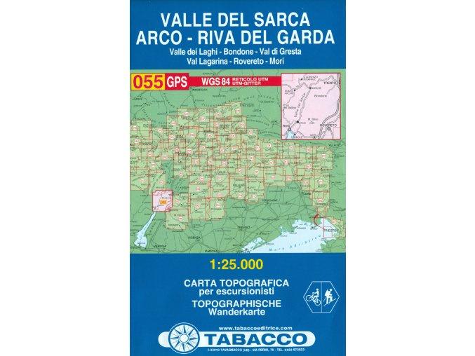 Tabacco WK 055 Valle del Sarca, Arco, Riva del Garda 1:25 000