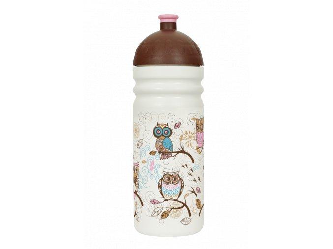 Zdravá lahev 0,7 l - sovičky  + náhradní zátka zdarma
