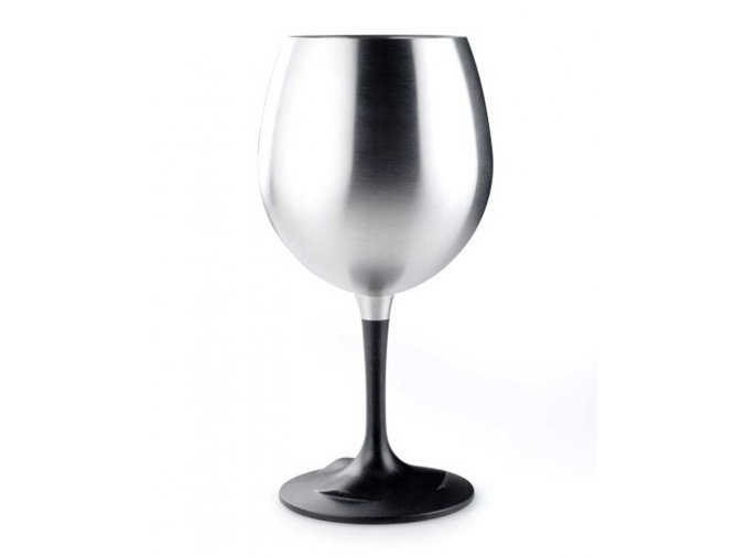 GSI outdoors Glacier Stainless Nesting Red Wine Glass - sklenička