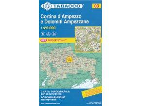 Tabacco WK 03 Cortina d'Ampezzo 1:25 000
