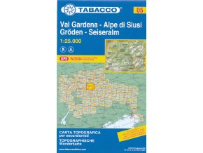 Tabacco WK 05 Val Gardena - Alpe di Siusi 1:25 000