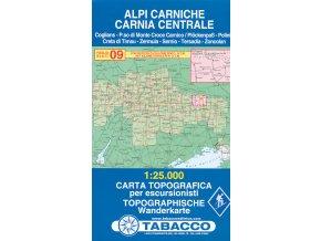 Tabacco WK 09 Alpi Carniche - Karnské Alpy 1:25 000