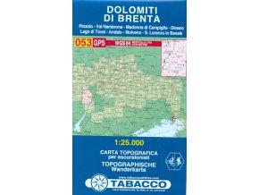 Tabacco WK 053 Dolomiti di Brenta - con Pinzolo 1:25 000