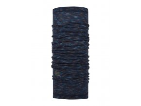 Wool Buff Denim Multi Stripes - šátek