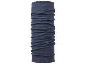 Wool Buff Purplish Multi Stripes - šátek