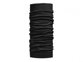 Wool Buff Solid Black - šátek