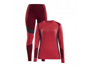 w set craft baselayer cervena se sedou