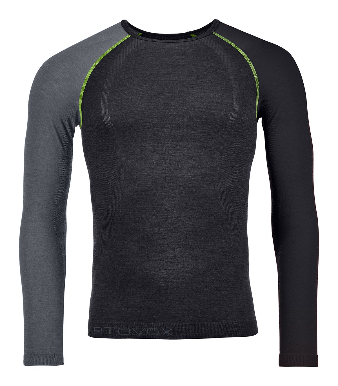 Ortovox 120 Merino Competition Light Long Sleeve M - tričko Barva: black raven, Velikost: XL