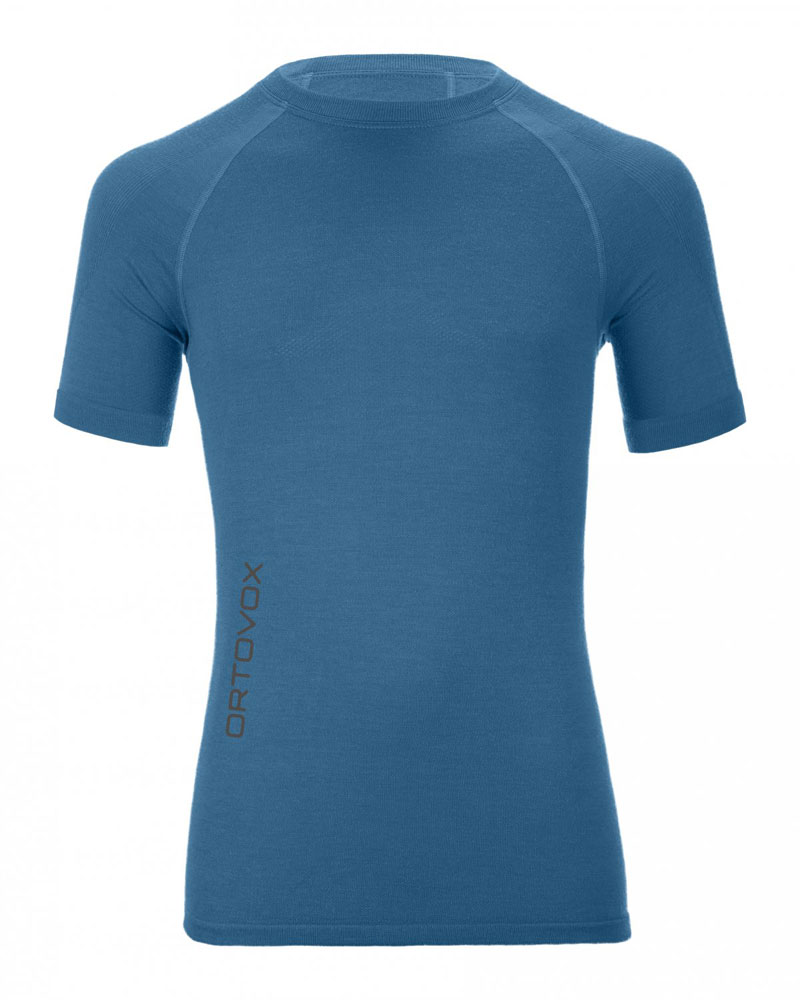 Ortovox 230 Merino Competition Short Sleeve M - tričko Barva: blue ocean, Velikost: L